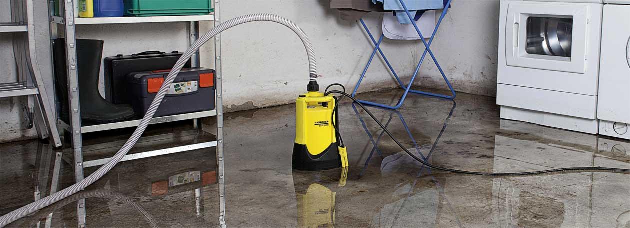 Kärcher Schmutzwasserpumpe im Keller.
