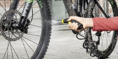 Schonende reinigung von Fahrrädern mit dem OC 3