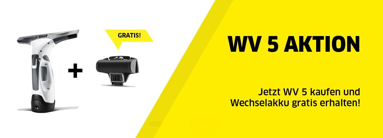 Aktion: WV 5 Fenstersauger – Gratis-Wechselakku