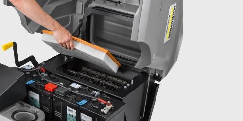 Kärcher Kehrmaschine KM 85/50 - Filtersystem